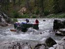 Sweep boat coming into Pistol Creek Rapid - remember, they have no brakes!