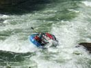 Raft getting sideways in rapid on the Selway River
