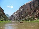 A rafting trip approaching Harding Hole area on a spectacular day