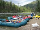 Three rafts on the Main Salmon River