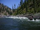 Rafts running a rapid on the Main Salmon River